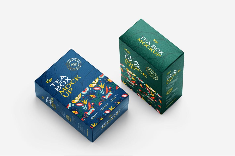 经典茶叶盒子包装展示样机designshidai_yj741