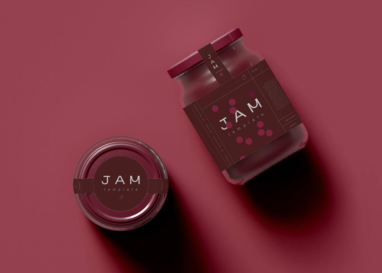 高品质的果酱食品包装设计VI样机展示模型mockups designshidai_yj703