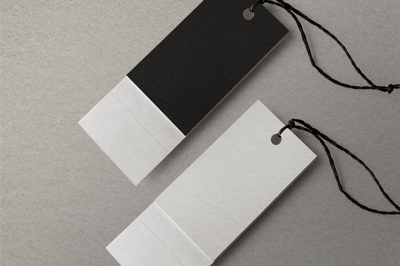 高品质的时尚高端服装标签设计VI样机展示模型mockups designshidai_yj706