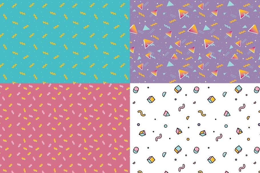 几何图形复古趣味插画背景designshidai_beijing152