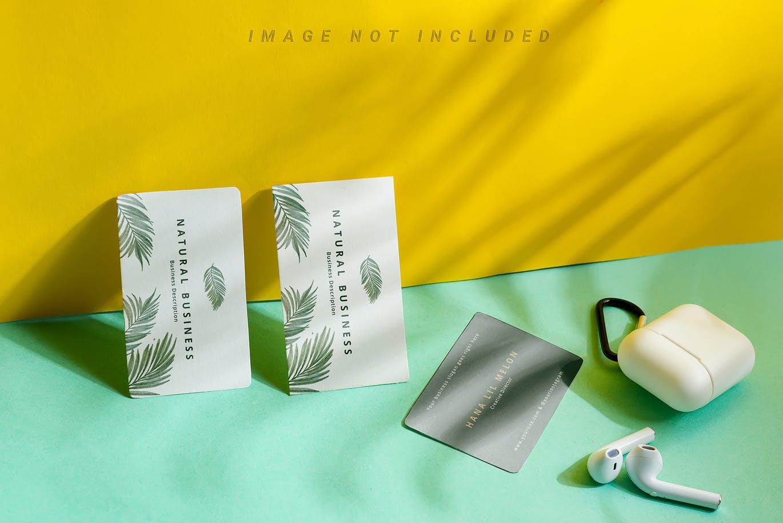 高品质的名片设计VI样机展示模型mockups集合designshidai_yj736