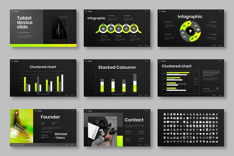 高端时尚专业的高品质商业商务powerpoint幻灯片演示模板designshidai_ppt0167