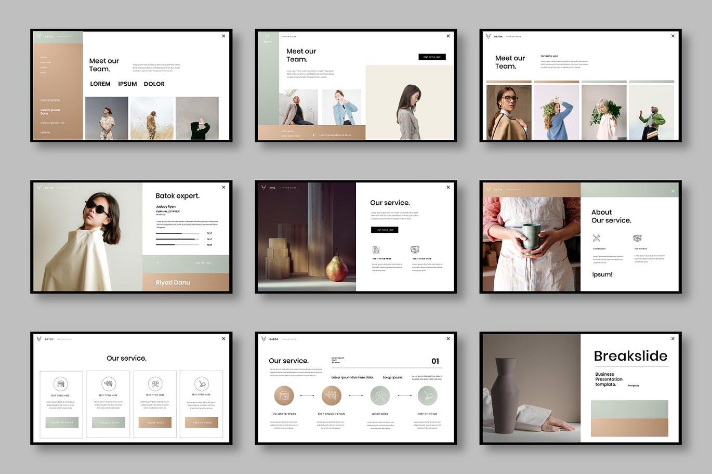 清新优雅时尚高端简约多用途的商业商务powerpoint幻灯片演示模板designshidai_ppt0170