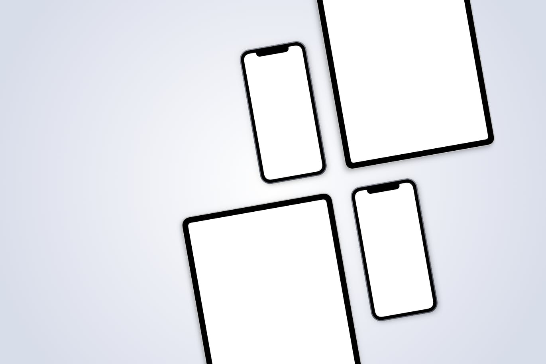 iPhone 12和iPad Pro-3 APP UI样机展示模型mockups designshidai_ui264