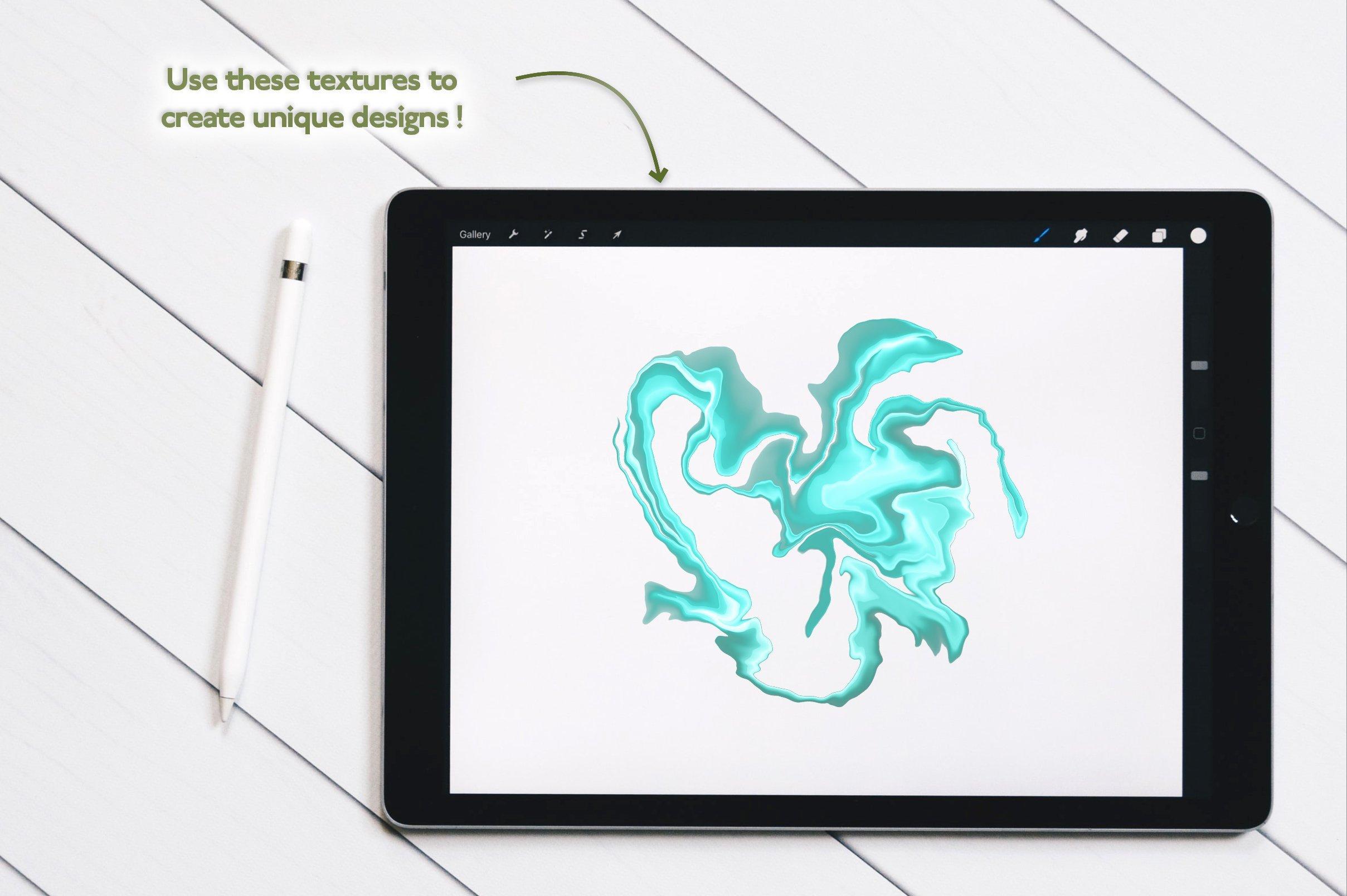 多用途创意万圣节元素Procreate笔刷+大理石纹理套装designshidai_bishua037