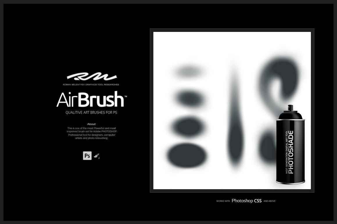 喷枪&涂鸦艺术油漆喷涂PS笔刷素材designshidai_bishua043
