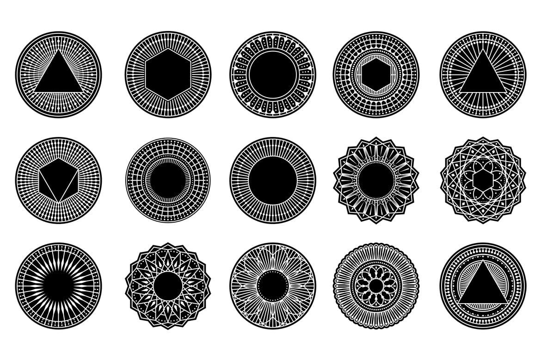 时尚高端多用途的100个几何矢量形状logo标志设计模板designshidai_beijing160