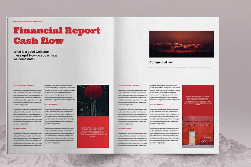 高端时尚红色业务宣传册图册画册模板designshidai_zazhi061