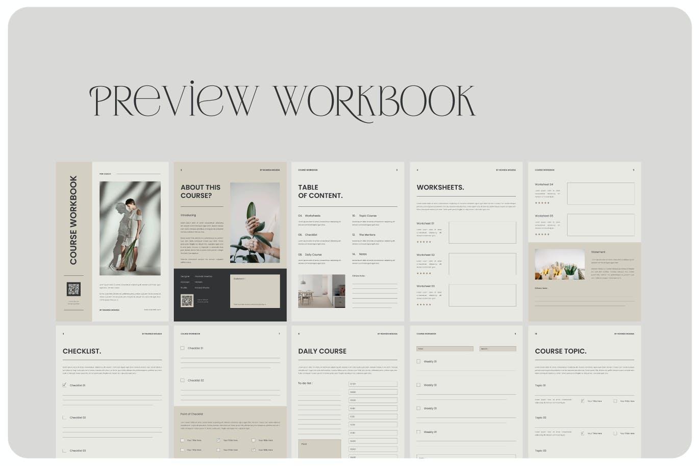 高品质多用途的课程作业表工作计划表格设计模板designshidai_zazhi053