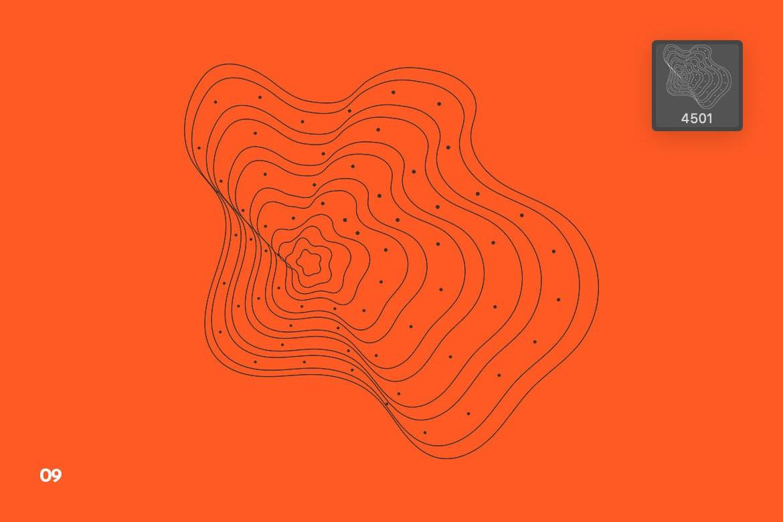 好看的网格波形状Photoshop笔刷designshidai_bishua009