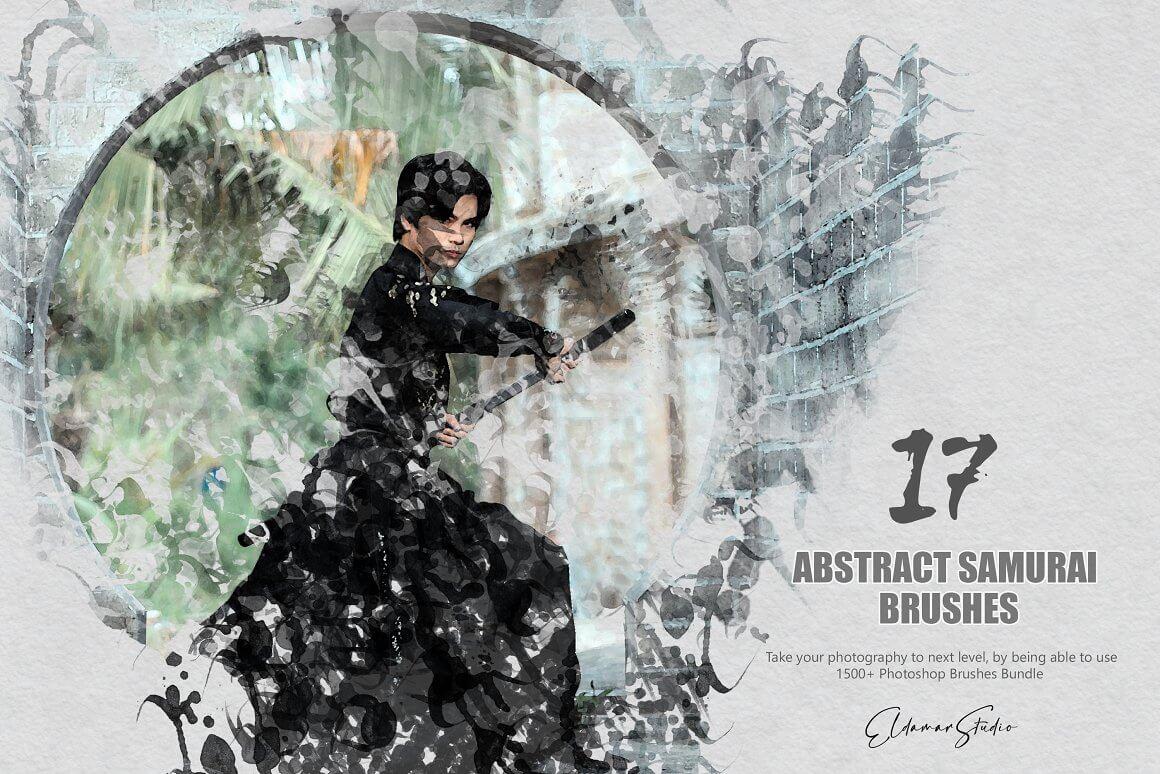 独特设计创意17个抽象武士PS笔刷designshidai_bishua081