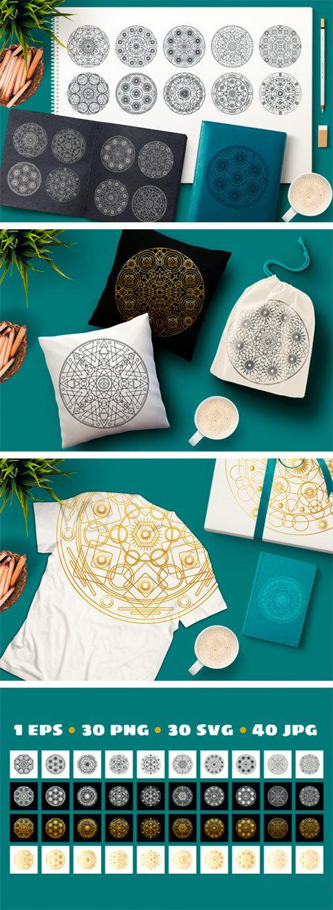神圣的几何曼陀罗图案/符号收藏集designshidai_beijing175