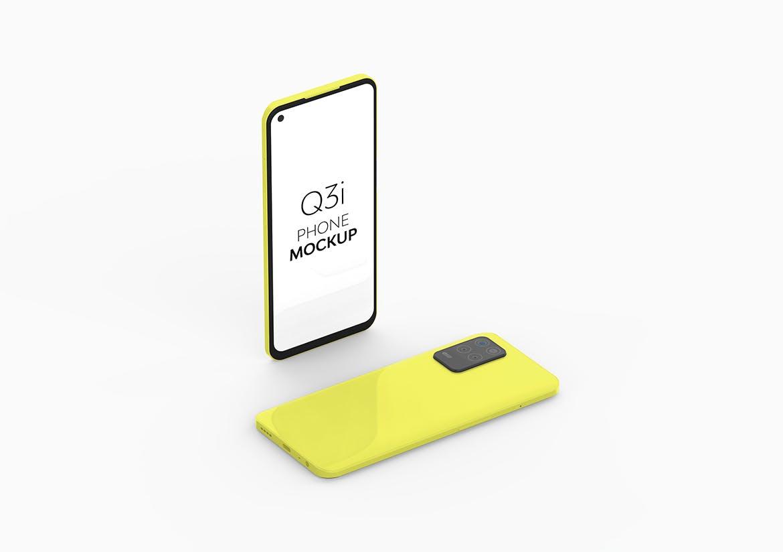 经典高端智能Realme Q3i手机模型designshidai_yj790