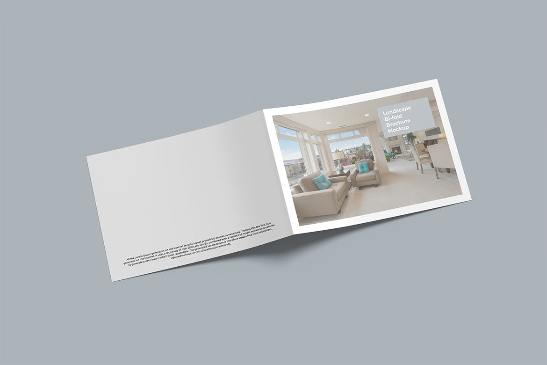 简约经典双折页画册宣传册产品样机designshidai_yj794