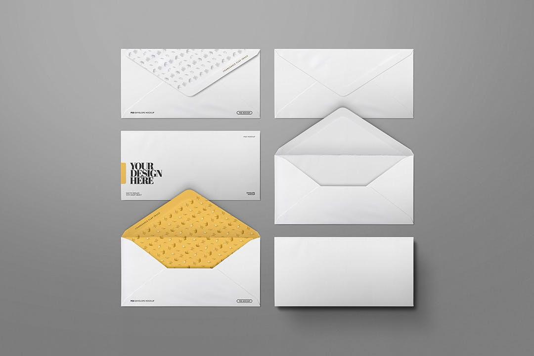 高质量信封邀请函展示样机designshidai_yj816