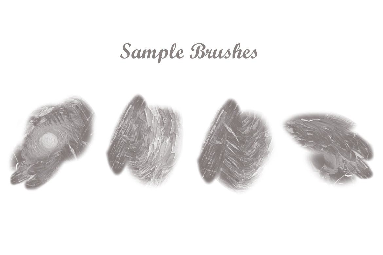 自然简约抽象PS艺术绘画笔刷designshidai_bishua074