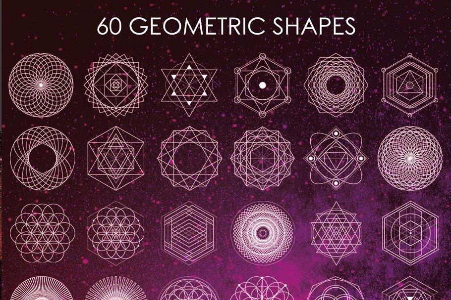 高端梦幻神圣巧妙的几何矢量形状图形designshidai_beijing178