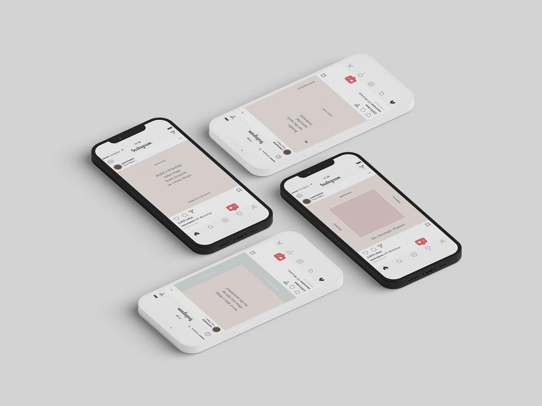 高端Phone 12 Pro 带手机克的手机样机designshidai_yj774