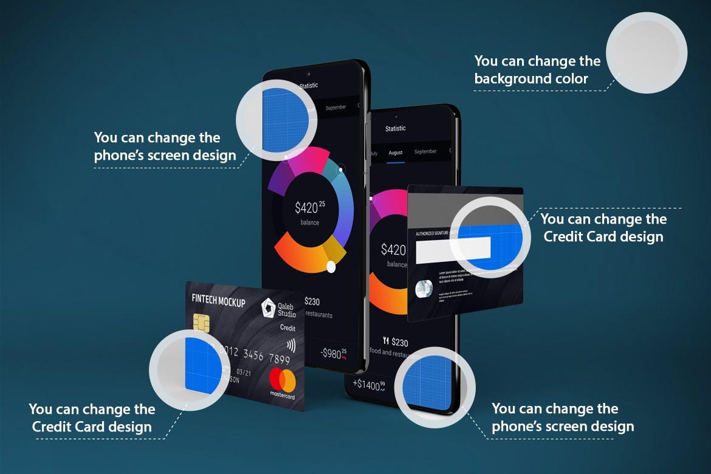 高端信用卡与APP品牌样机模型designshidai_yj807
