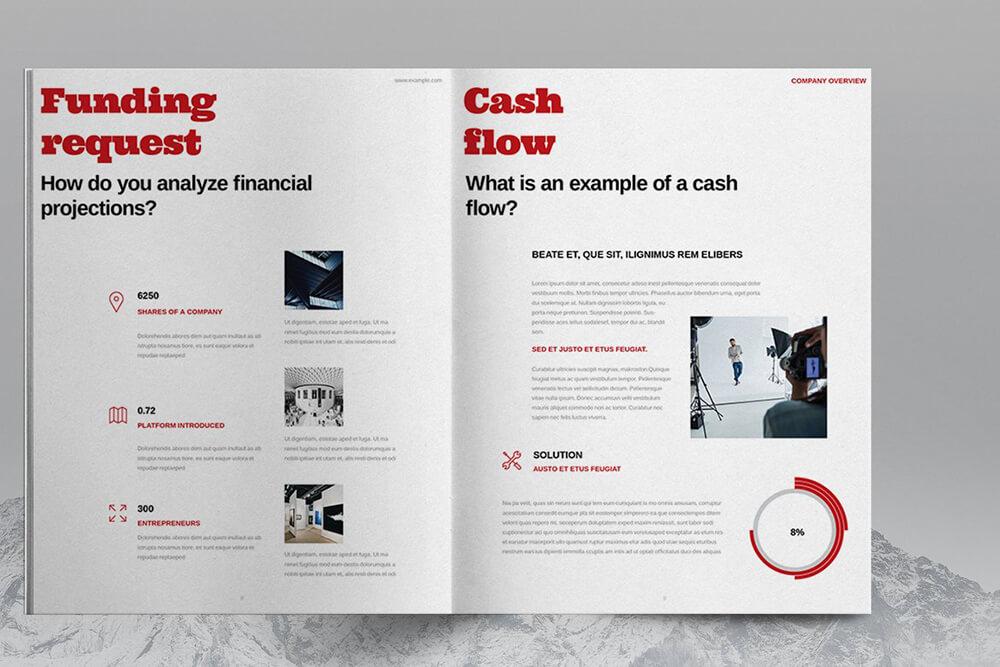 时尚红色主题企业宣传册画册杂志模板designshidai_zazhi062