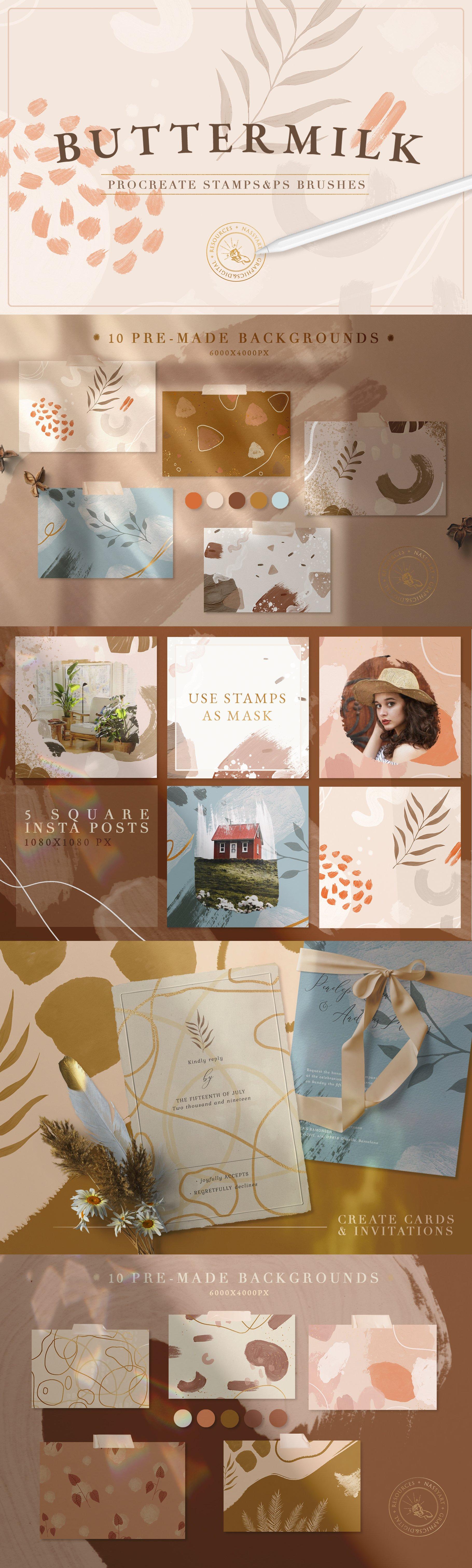 独特创意现代和抽象的Procreate&Photoshop笔刷合集designshidai_bishua0106