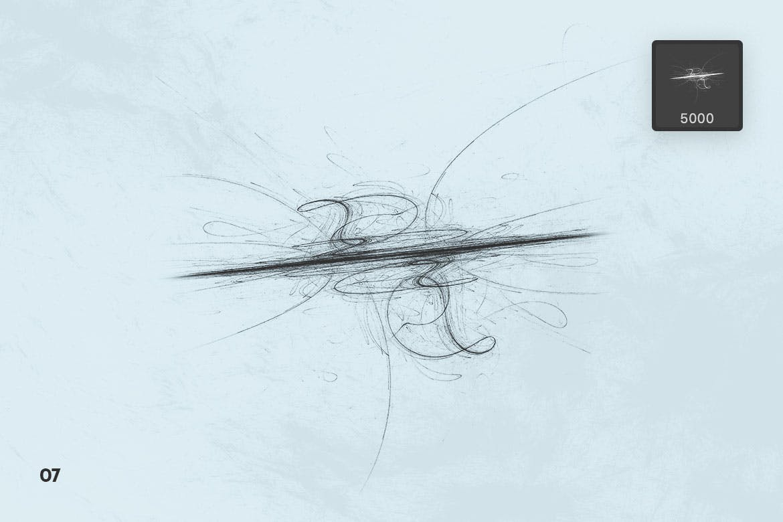 粗糙墨迹肌理Photoshop笔刷designshidai_bishua008