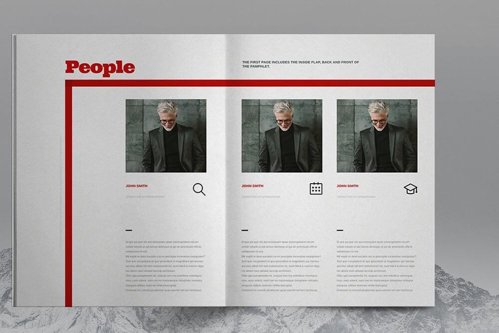高端红色配色公司业务宣传册企业画册设计模板 designshidai_zazhi060