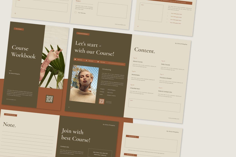 高品质多用途的课程作业表工作计划表格设计模板designshidai_zazhi054