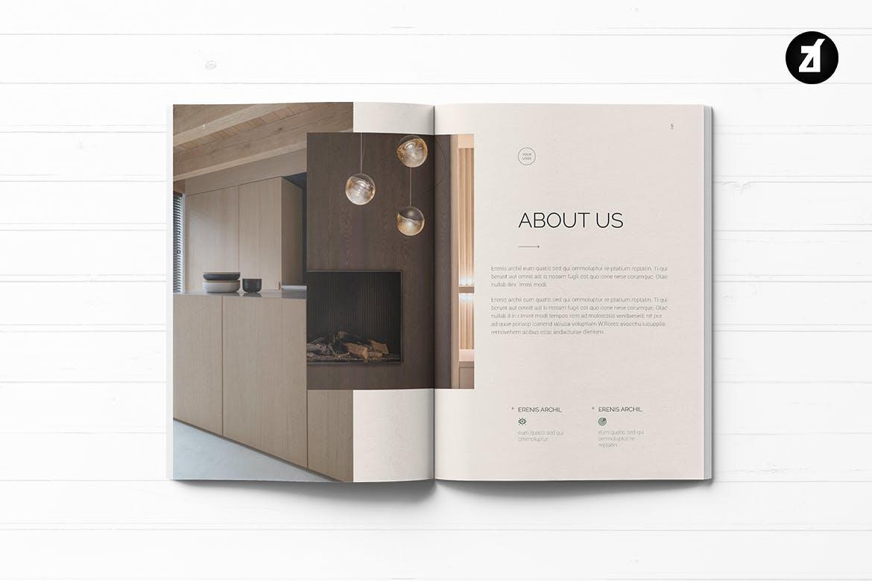 优雅时尚高端清新多用途商业计划书房地产楼书画册宣传册杂志书籍装帧设计模板designshidai_zazhi057