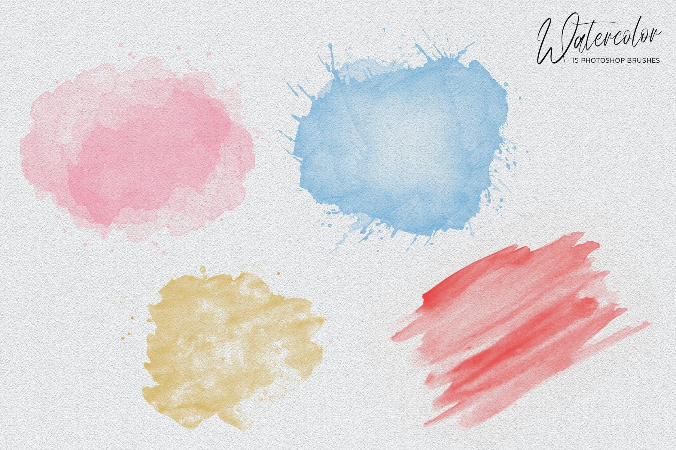 艺术铅笔刷水彩PS笔刷Photoshop笔刷集designshidai_bishua034