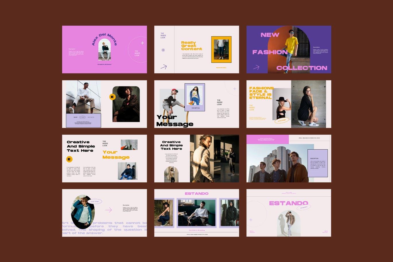 高端时尚多用途创意美容行业PPT模板designshidai_ppt0181