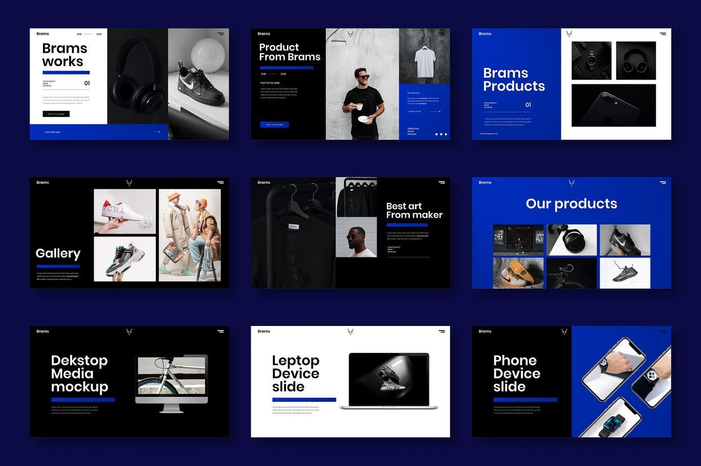 多用途酷炫个性的广告公司项目介绍模板designshidai_ppt0187