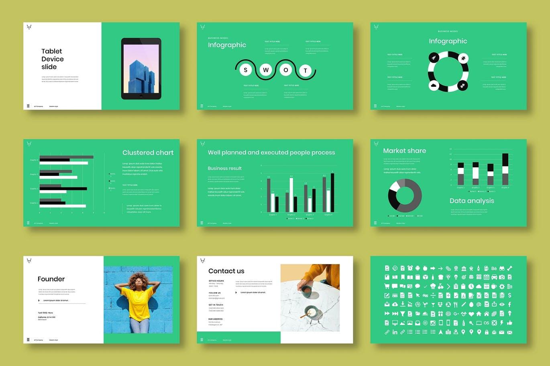 时尚高端创意风格公司介绍PPT模板designshidai_ppt0197