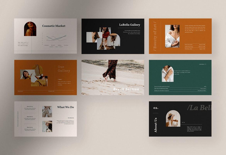 高端美容服务行业PPT模板designshidai_ppt0200