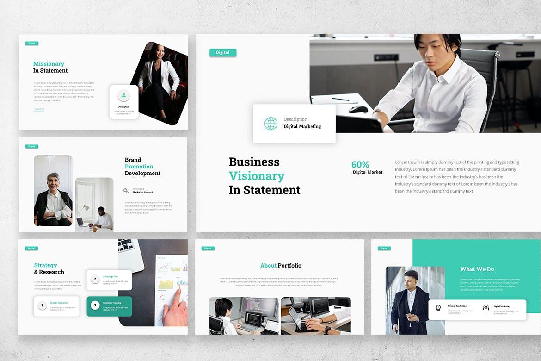 专业的数字营销商业策略PPT模板designshidai_ppt0199