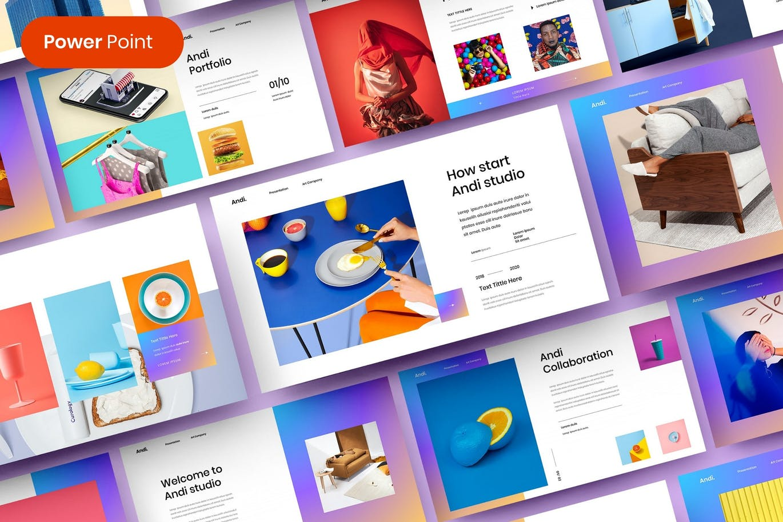 专业时尚高端多用途的高品质商业商务powerpoint幻灯片演示PPS模板designshidai_ppt0203