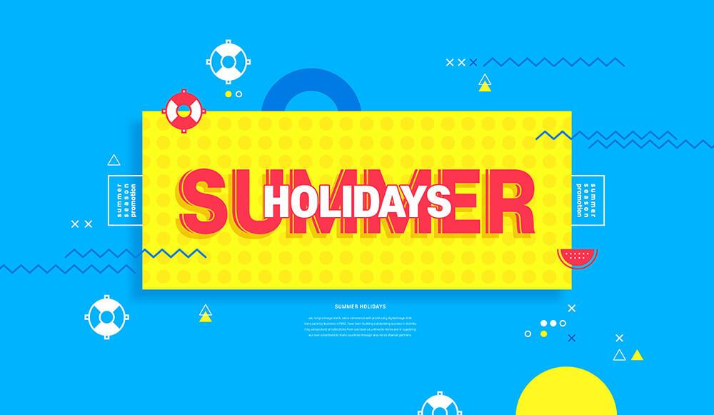 夏季假期活动广告Banner设计素材designshidai_haibao60