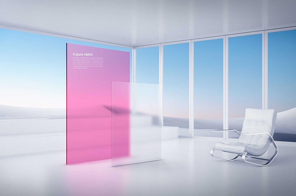 时尚白色装修未来风格风景海报设计模板designshidai_haibao63