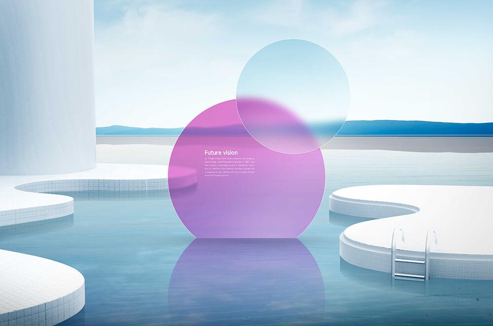白色泳池风景创意海报设计模板designshidai_haibao65