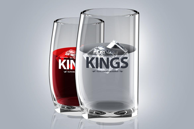 高端透明玻璃杯标志产品PSD模型designshidai_yj826