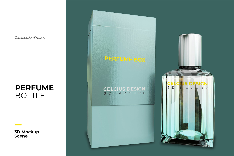 高端经典香水瓶与包装设计模型designshidai_yj867
