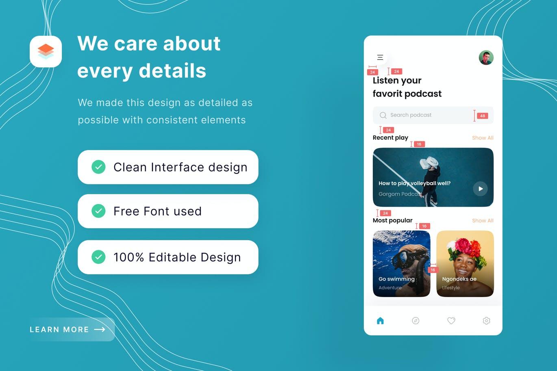 智能手机博客应用程序模板designshidai_ui333
