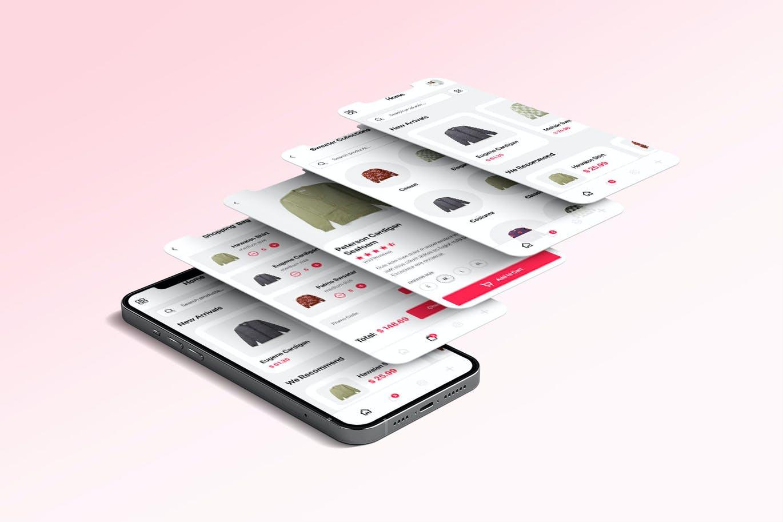高端时尚在线贸易网购APP工具包designshidai_ui338