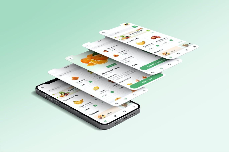 高端水果电子商务App UI工具包designshidai_ui340