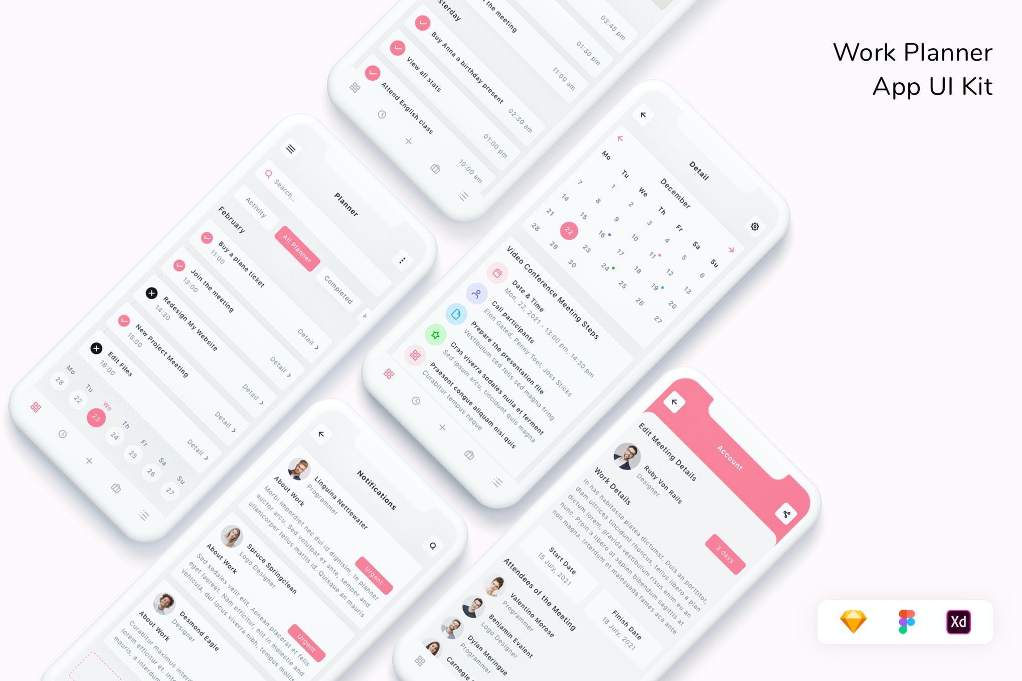 专业专用工作计划App UI工具包designshidai_ui342