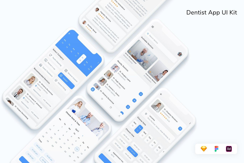 专业医疗牙医应用程序UI工具包designshidai_ui343