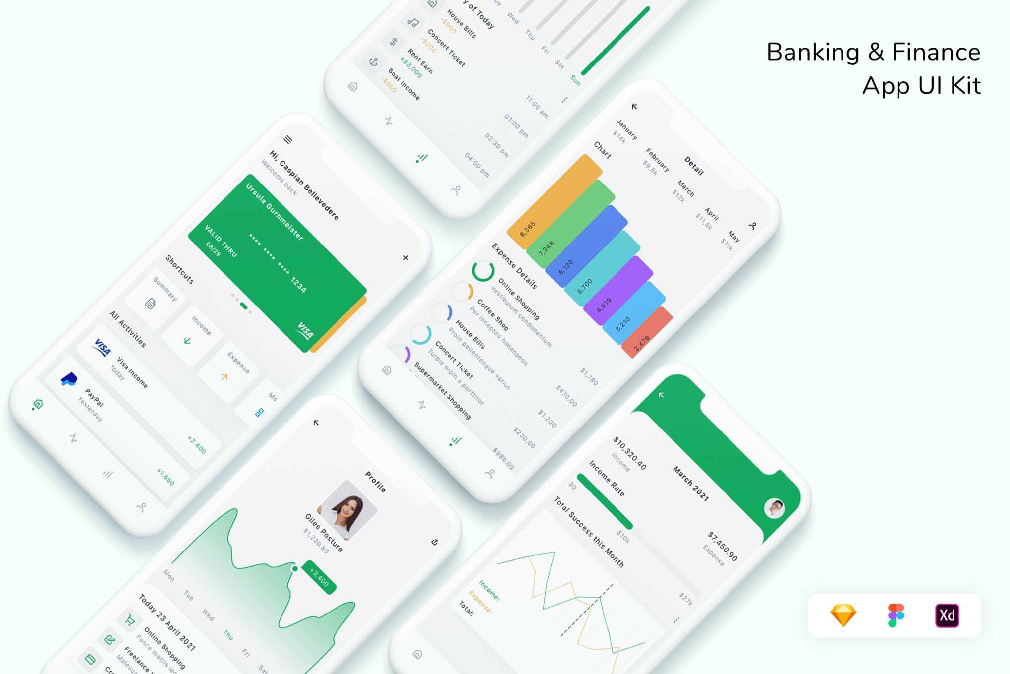 高端金融银行程序UI工具包designshidai_ui351