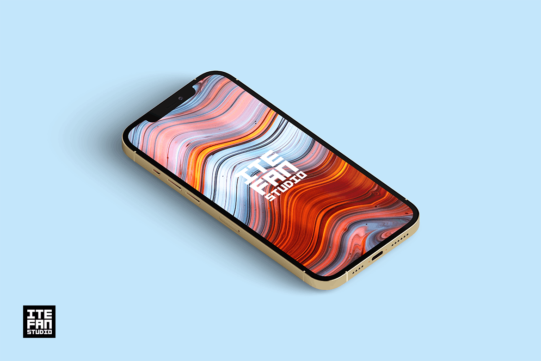 高端智能iPhone 12 Pro Max 个性手机样机designshidai_yj839