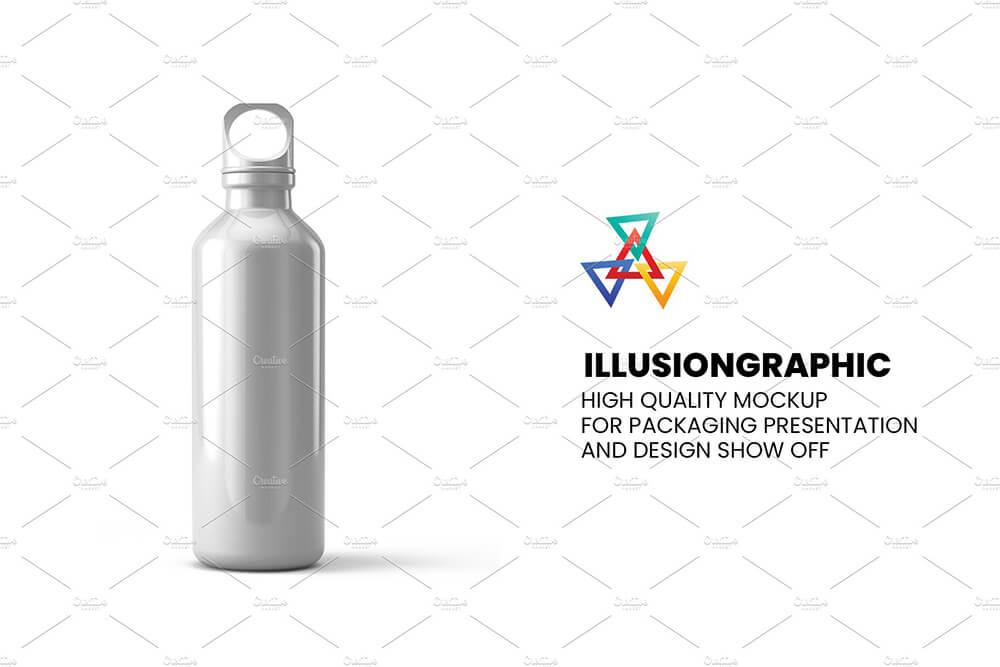 经典包装金属运动饮水瓶多视图展示样机designshidai_yj843