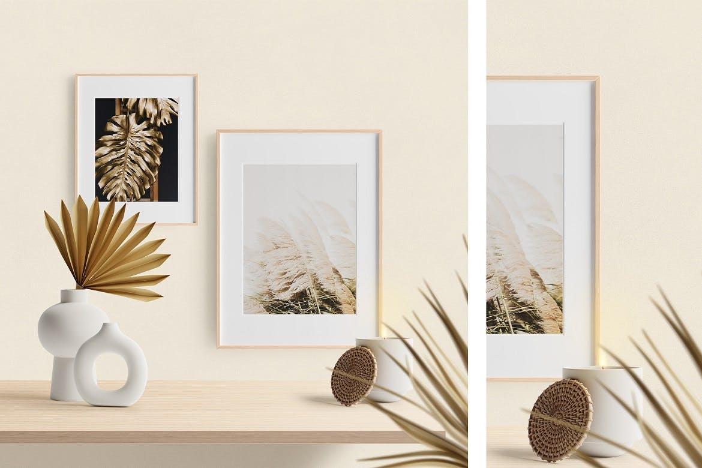 高质量高端艺术画框设计场景样机designshidai_yj825